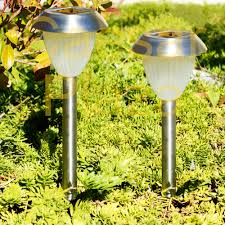 Landscape Path Light 24 Outdoor Stainless Steel Solar Led Bright White Landscape Path