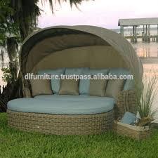 outdoor sofa furniture round retactable canopy garden furniture