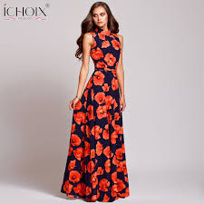 floral dresses women vintage evening party dress summer plus size floral