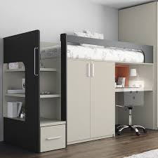 Bunk Bed Systems With Desk Loft Bed Single Contemporary With Writing Desk Touch 68