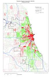 University Of Chicago Map by Change In Population Chicago And Vicinity 2000 2010