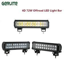 12 Light Bar Geruite 12 Inch 4d 72w Led Work Light Bar Daytime Running Light
