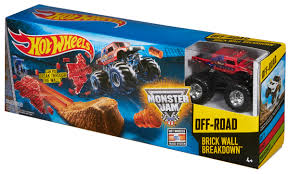 batman monster jam truck wheels monster jam brick wall breakdown track set shop