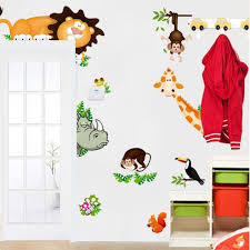 aliexpress com buy jungle animals 3d wall decals for kids room aliexpress com buy jungle animals 3d wall decals for kids room decorative stickers cartoon home decorations mural art safari poster baby gift cd001 from