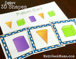 free 3d shapes activity pack