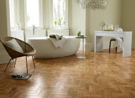 Designing The Beautiful by Designing The Wooden Floor In The Bathroom With Parquet Style