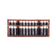 vintage style 13 rods wooden abacus chinese calculator counting