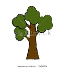 abstract stylized tree vector illustration stock vector 718568794