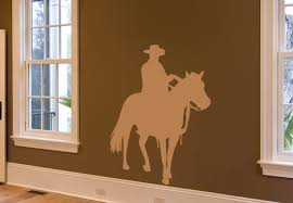cowboy 3 wall sticker decor wild west home decoration