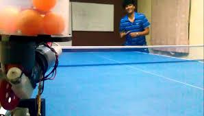 a homemade table tennis robot youtube
