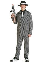 teen deluxe gangster costume