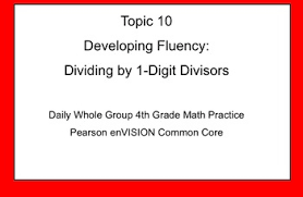 4th grade math topic 10 guided practice pearson envision common