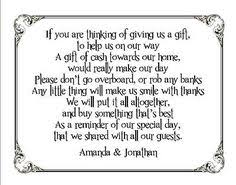 Wedding Gift Registry Wording Check Out Honeymoon Fund Invitation Insert For Bridal Shower Or