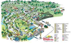 Lancaster Ohio Map by Park Map Of Dutch Wonderland Amusement Park In Lancaster