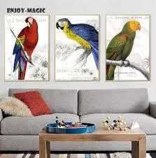 parrot home decor home decor canvas poster bird parrot animal usa home decoration