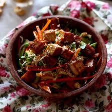 cuisiner le tofu ferme salade asiatique au tofu mariné cuisine blogue pratico pratique