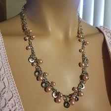 bead necklace jewellery images Fashion jewelry jewelry beautiful pink bead necklace and jpg