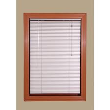 hold down brackets faux wood blinds blinds the home depot champagne 1 in room darkening aluminum mini blind 39 5 in