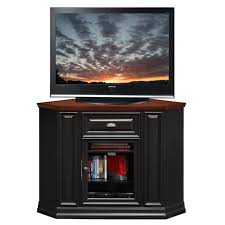 Corner Tv Cabinet For Flat Screens Furniture Tall Black Wooden Corner Tv Cabinet With Glass Door For