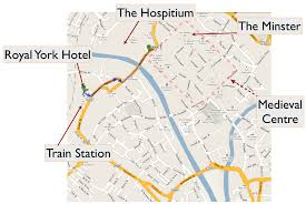 road map of york about york
