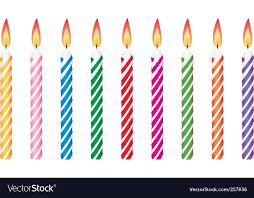 birthday candles birthday candles royalty free vector image vectorstock