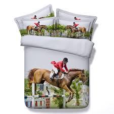 3d horse bedding set design queen size bed in a bag sheet duvet