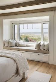 bedroom and more gorgeous beach house in massachusetts with barn like details