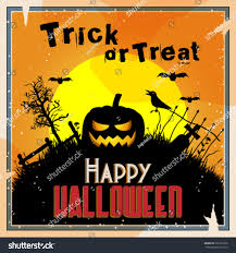 desert halloween background vector retro style halloween background graveyard stock vector