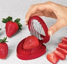 unique cooking gadgets strawberry slicer most useless kitchen gadget yet kitchen