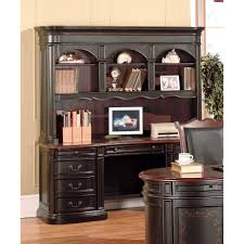 Cherry Desk With Hutch Yuan Kahula 3pc Executive Desk Hutch Credenza In Black