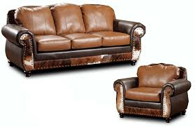 Denver Leather Sofa Rustic Leather Furniture Denver Rustic Lodge Leather Sofa And