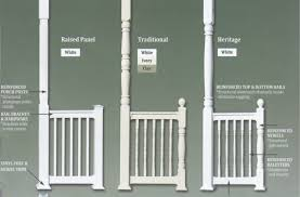 vinyl posts u0026 rails colonial pillars