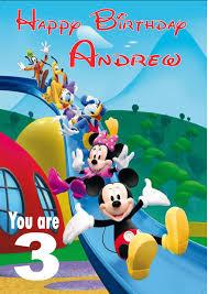 Mickey Mouse Birthday Invitation Cards Personalised Mickey Mouse Clubhouse Birthday Card
