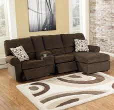 living room small scale sectional sofa and tray fur rug