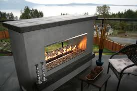 Modern Outdoor Gas Fireplace by Outdoor Fireplace 2 Sided Modern Double Sided Outdoor Fireplaces