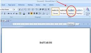 membuat daftar isi table of contents di word 2007 membuat titik titik untuk daftar isi pada word 2007 kerinduanku