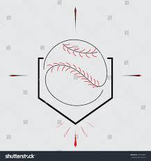 baseball home plate ball sport graphic stock vector 307774343