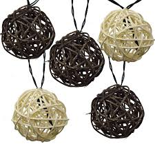 twig rattan grapevine balls led solar powered