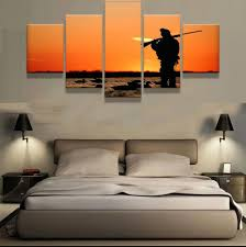 hunting decorations for home duck hunting end of day sunset 5 piece hq canvas wall art print