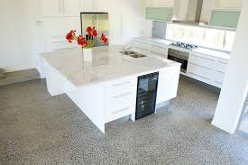 Concrete Kitchen Floor by Best Kitchen Flooring Material Options The Pros And Cons