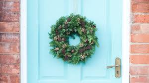 fresh christmas door wreath hardys christmas