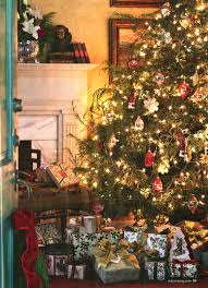 caspari gift wrap under a stunning tree in bliss victoria magazine
