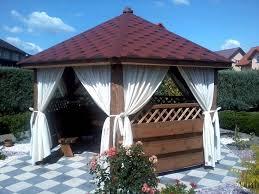 natural wooden gazebo with sides design ideas gazebo ideas