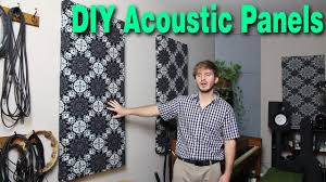 diy acoustic panels room acoustics how to youtube