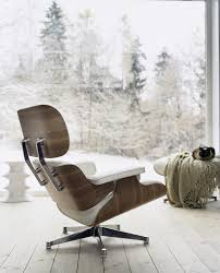 White Chair With Ottoman Vitra Lounge Chair Ottoman White Version 89 Cm By Charles