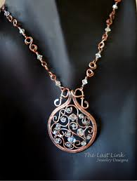swarovski crystals necklace designs images Filigree and swarovski crystal woven wire necklace jpg