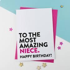 niece birthday cards most amazing niece birthday card by a is for alphabet