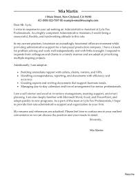 exle resume letter cover letter for executive assistant resume explore letters and