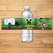 minecraft party favors minecraft drink label green blocks minecraft by monkstavern on