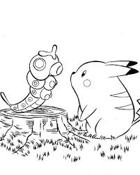 pokemon color pages pikachu digital dunes pikachu and friends pokemon colouring pages